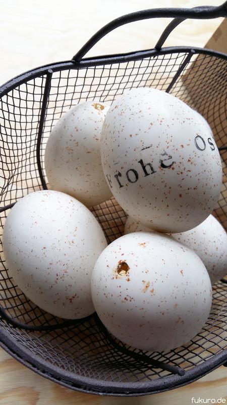 ausgepustete Eier
