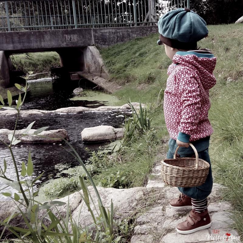Hoodie Knirps-Ankerknirps, Byxa Tulipan-Bunter Zwergenwald