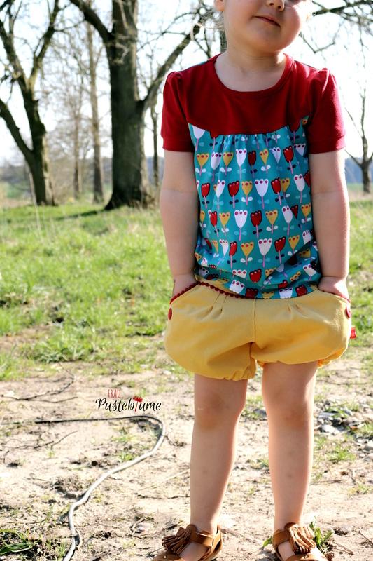 Girly Shirt-Konfettipatterns, Ballonshorts Tuula-Meine Herzenswelt